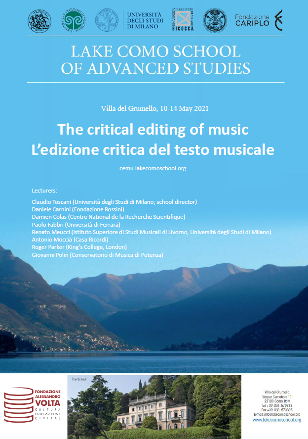 International Summer School: The critical editing of music