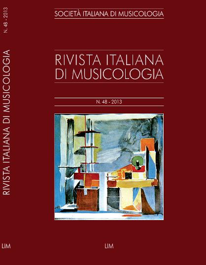 Rivista italiana di Musicologia copertina fascicolo 48 (2013)